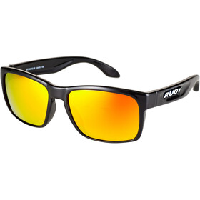 Rudy Project Spinhawk Slim Occhiali, black gloss - rp optics multilaser orange